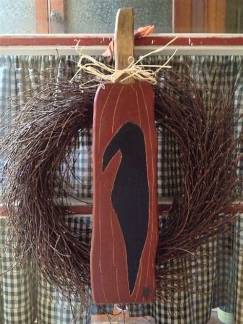 primitive crow   pumpkin  vintagetrimmings  etsy