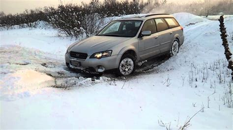 subaru outback off road subaru outback off road deep snow extreme youtube