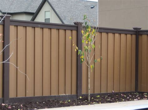backyard fence paint colors trex seclusions woodland brown fence retaining wall