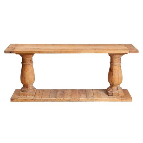 Wooden Console Table Reclaimed Wood Balaster Console Table 7 Ideal Reclaimed Wood Console Table Estateregional