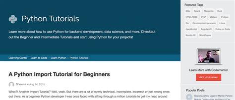 python tutorial intermediate python在线学习网站大全 盖娅