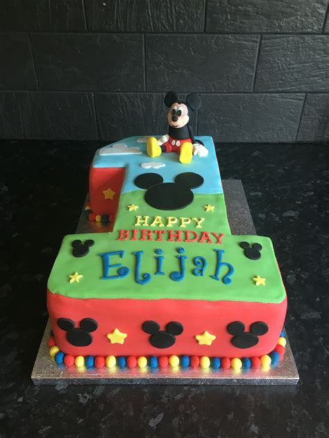mickey mouse number  birthday cake  birthday