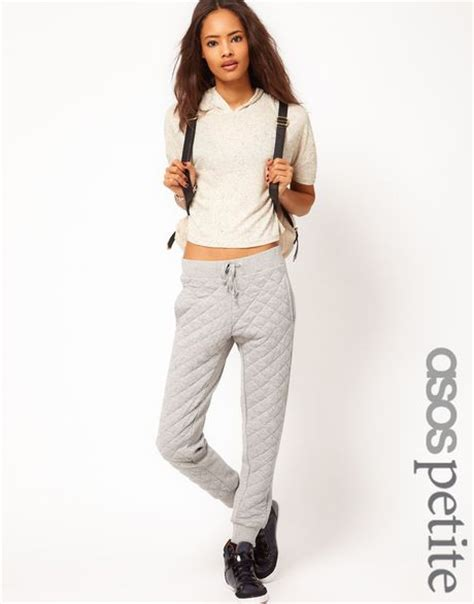 Quilted Joggers by Asos Exclusive Quilted Joggers In Gray Grey Lyst