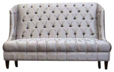 silver settee high back silver tufted settee 3 000 est retail