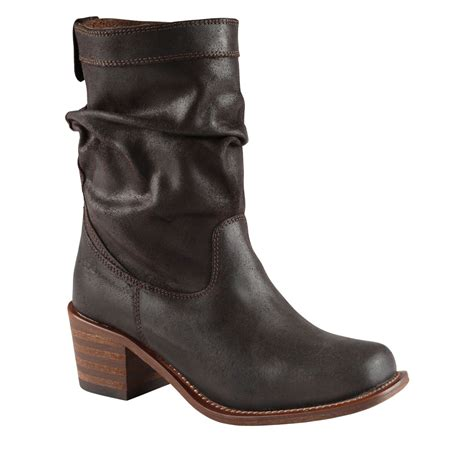 aldo brown boots aldo charata mid heel calf boots in brown lyst