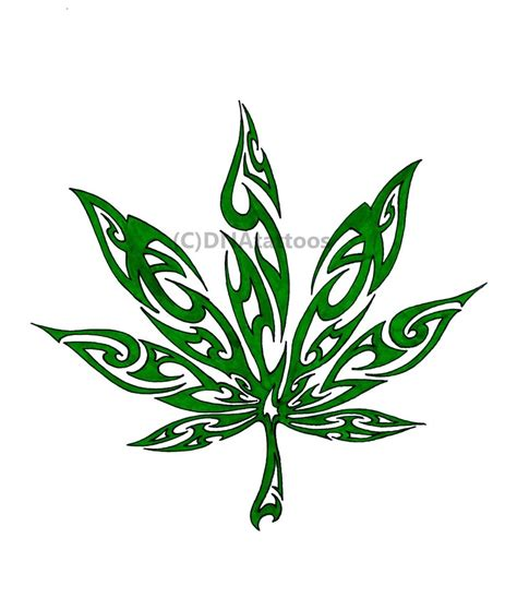 tattoos of weed designs leaf design