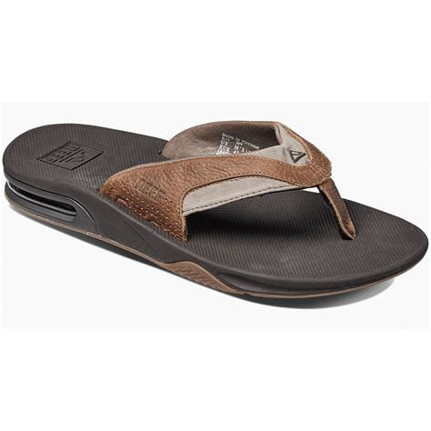 reef fanning mens size 10 reef s leather fanning flip flops