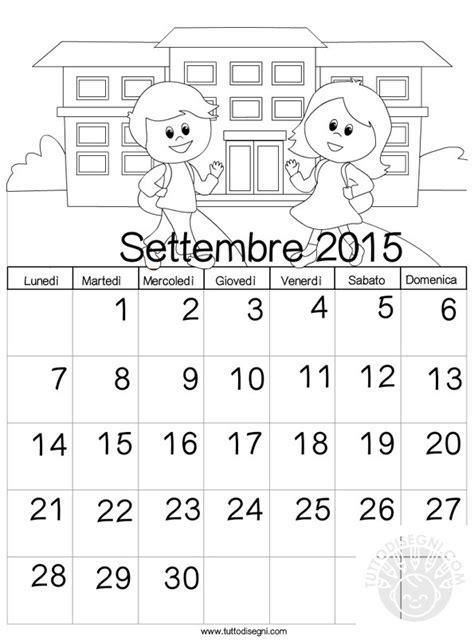 Calendario 2015 Per Whatsapp Calendario 2015 Da Colorare Settembre Tuttodisegni