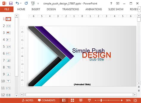 design for powerpoint template animated modern design powerpoint template slidehunter com