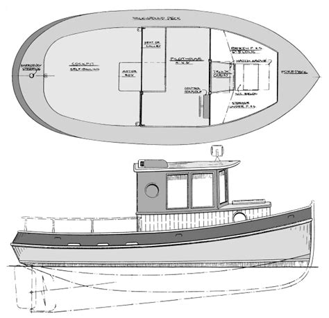 mini boat design 18 1 2 goliath authentic tug cruiser boatdesign