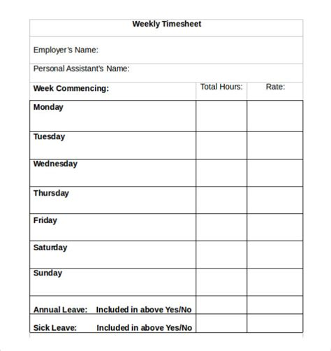 blank time card template timesheet calculator work hours sheet template