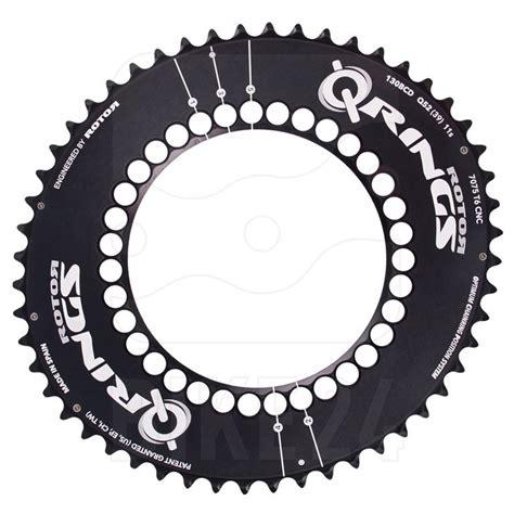 Q Ring Rotor Compact Qxl Bcd 110mm Black rotor q rings 5 arm 130 bcd aero road chainring oval black bike24
