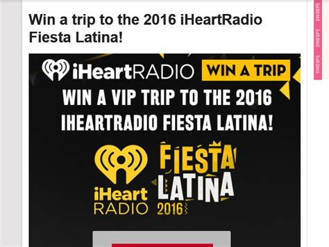Latina Disney Sweepstakes - the 2016 iheartradio fiesta latina sweepstakes sweepstakes fanatics