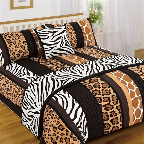 animal print bedding leopard animal print serengeti bed in a bag duvet quilt