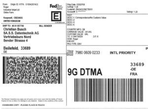 Versandaufkleber Drucken by Fedex Versandaufkleber Schnell Drucken Mit Preiswerten