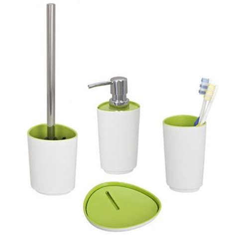 wenko alcamo green bath accessories set at