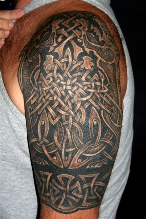 celtic half sleeve tattoos for men half sleeve tattoos for designs ideas and meaning
