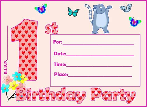 Birthday Card Invitation Templates For Microsoft Publisher by Birthday Invitation Card Birthday Invitation Card
