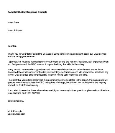 Business Letter Template Response response letters 17 free word pdf documents