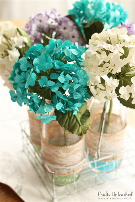 How To Make Paper Flower Centerpieces - diy centerpieces floral vases crafts unleashed