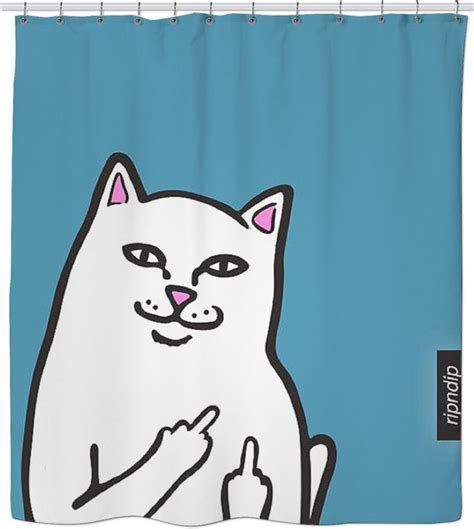 "Zumiez ""RipNDip"" Cat Shower Curtain!"