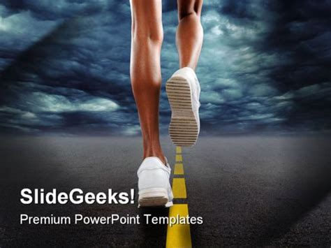 powerpoint templates for sports presentation running sports powerpoint template 0610