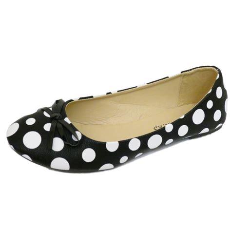 polka dot flat shoes black flat polka dot slip on ballerina pumps dolly