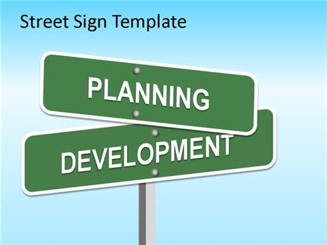 street sign powerpoint template for marketing powerpoint