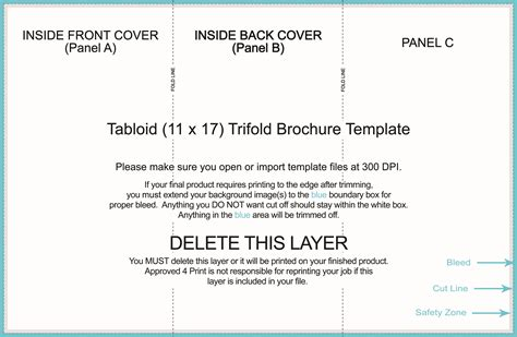 Word Template For 17 By 11 Sheet Of Business Cards by Approved4print