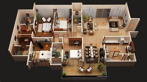 4 room house 50 four 4 bedroom apartment house plans architecture design