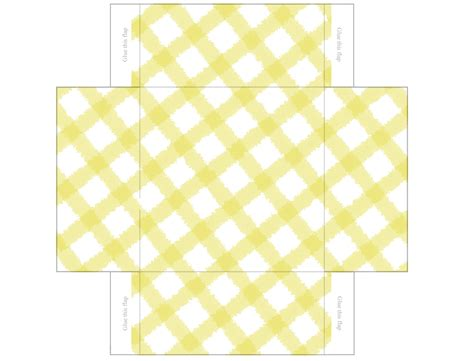 free printable templates gingham mini gift boxes