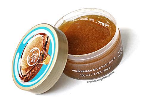 Bodyshop Argan Scrub makeup review swatches the shop argan collection