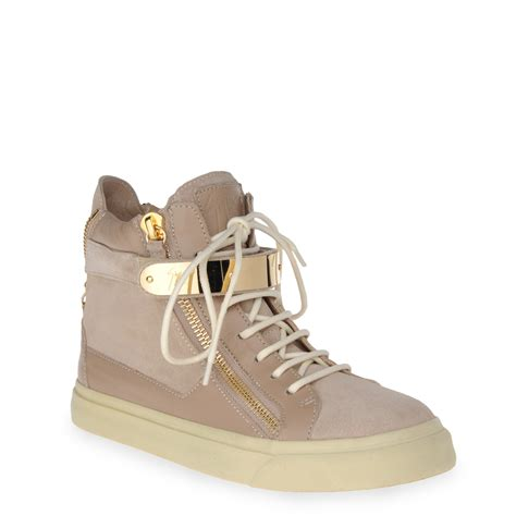 womans high top sneakers giuseppe zanotti high top sneakers in dove gray