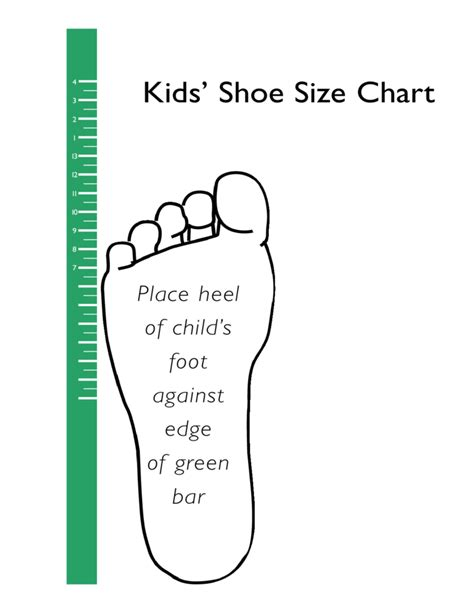 how to measure shoe size for standard shoe size chart for free