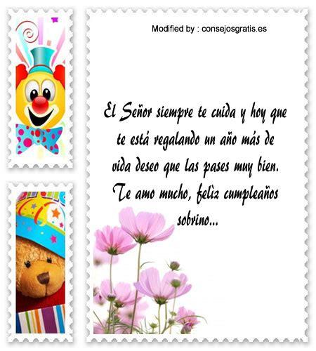 tarjeta de feliz cumpleanos a mi sobrino frases mensajes de cumplea 241 os para mi sobrino frases de