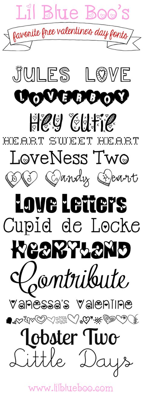 favorite free s day fonts