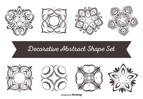 Chape Decorative by Decorative Abstract Shape Set Free Vector
