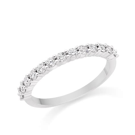 wedding ring in 18k white gold from
