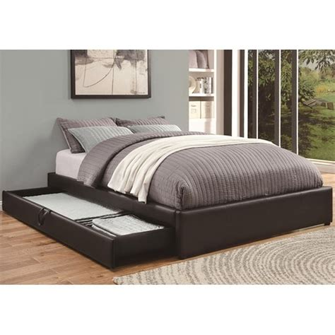 black queen size bed coaster 300386q black queen size leather bed steal a