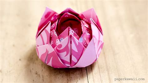 How To Make A Lotus Origami - traditional origami lotus paper kawaii