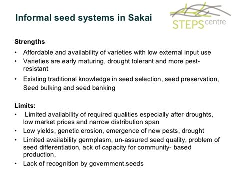 Formal And Informal Credit System formal and informal seed systems in kenya implications