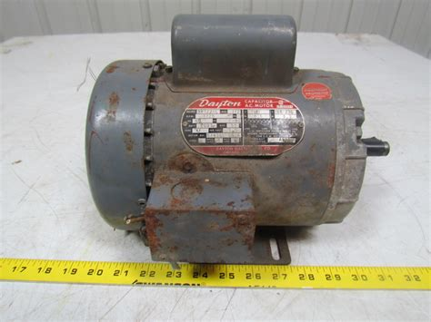 function of capacitor in dc motor dayton 5k122 l 1 2hp capacitor ac electric motor 1ph 115 208 230v f56 frame ebay