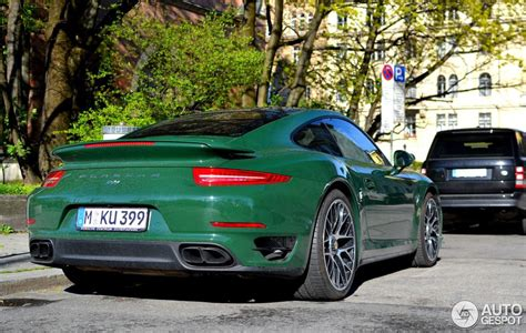 racing green uber cool porsche 991 turbo in racing green