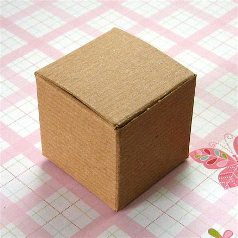 Paper Box Craft - recycled brown cardboard packaging kraft paper box