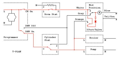 mid position valve wiring diagram central heating programmer or motorised valve diynot forums
