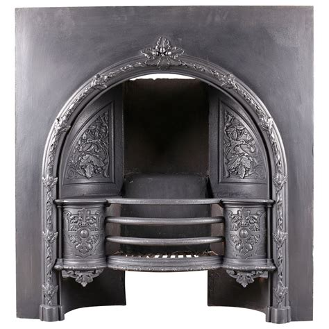 Antique Fireplace Grates Cast Iron by Antique Early Cast Iron Fireplace Grate For Sale