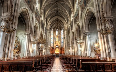 Cathedral Interior by Cathedral Interior Wallpaper World Wallpapers 41810