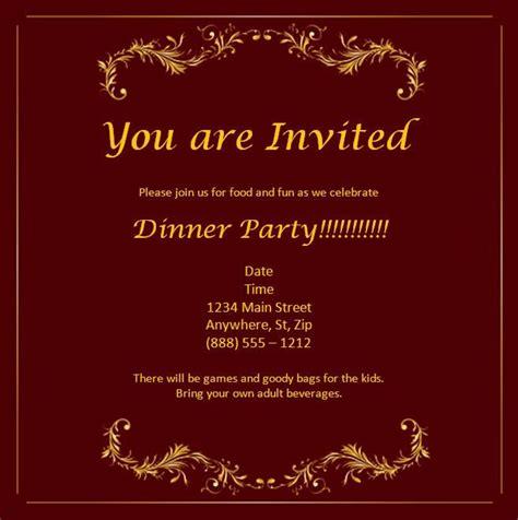 Sle Invitation Card Template by Free Wedding Anniversary Invitation Cards Templates