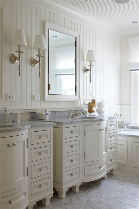 white beadboard for bathroom vanity ideas