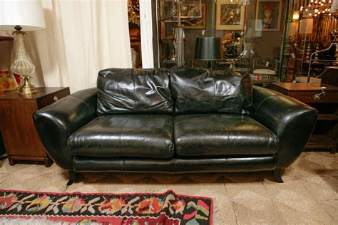 drexel leather sofa vintage black leather sofa by drexel heritage at 1stdibs